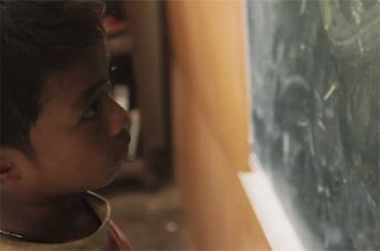 Child & Chalkboard